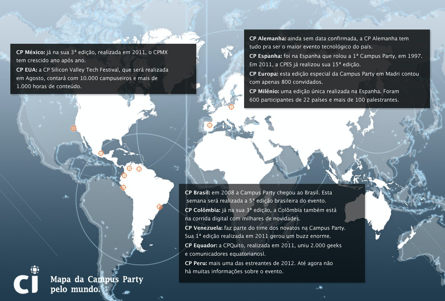 Mapa dos Campus Party pelo Mundo | Clique para ampliar!