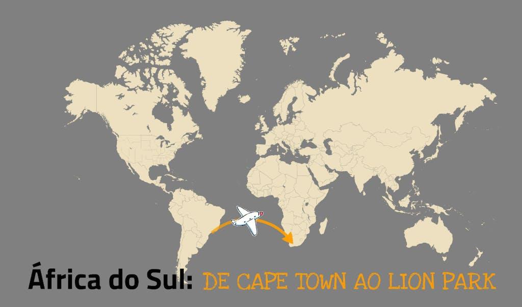africa do sul de cape town ao lion park