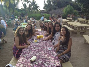 Group at the Luau 2