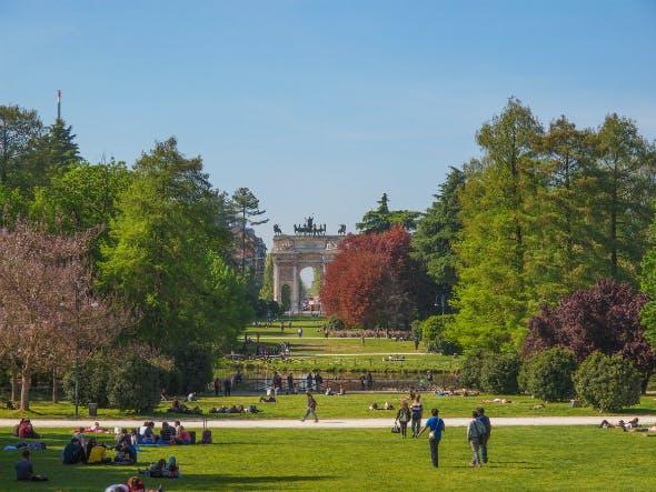 Visão geral do Parco Sempione