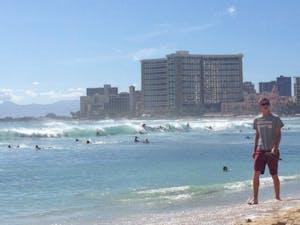 Waikiki surf is on