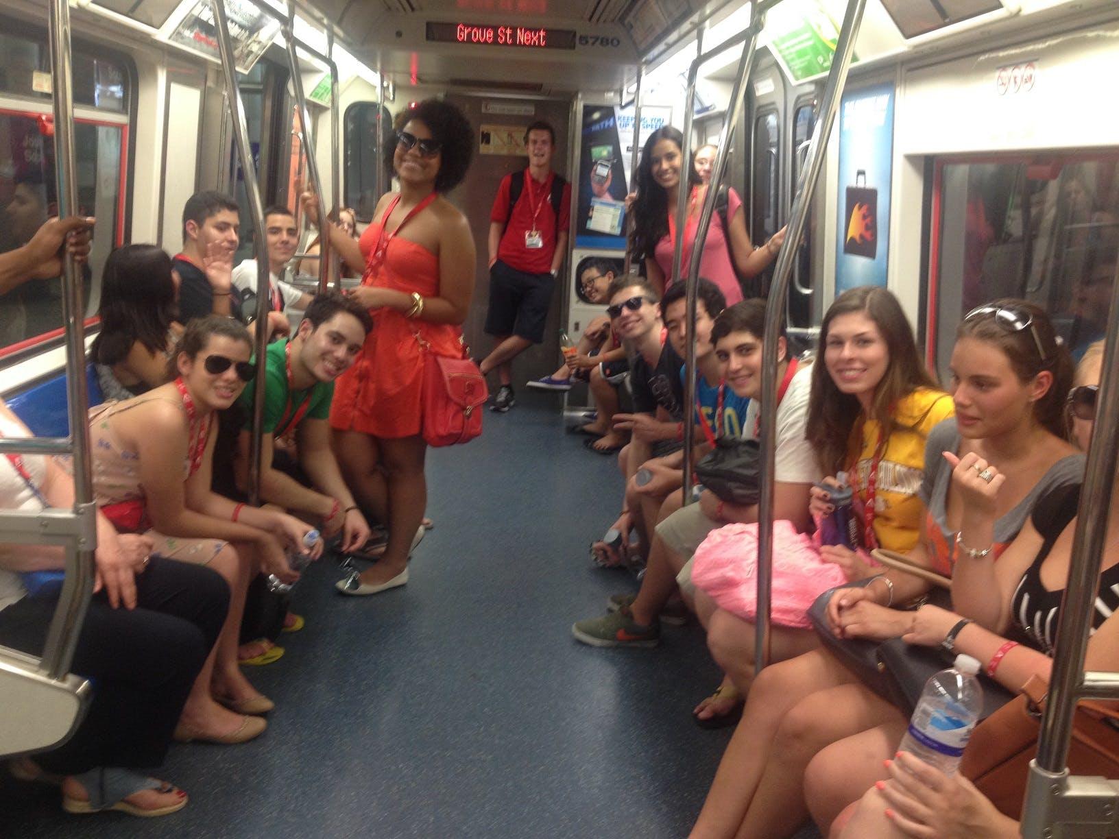 Os teens no metrô de NY!