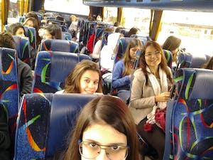 no bus indo para Londres
