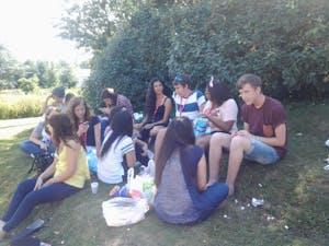 picnic no Lago do Campus