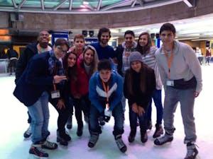 Patinacao no gelo!