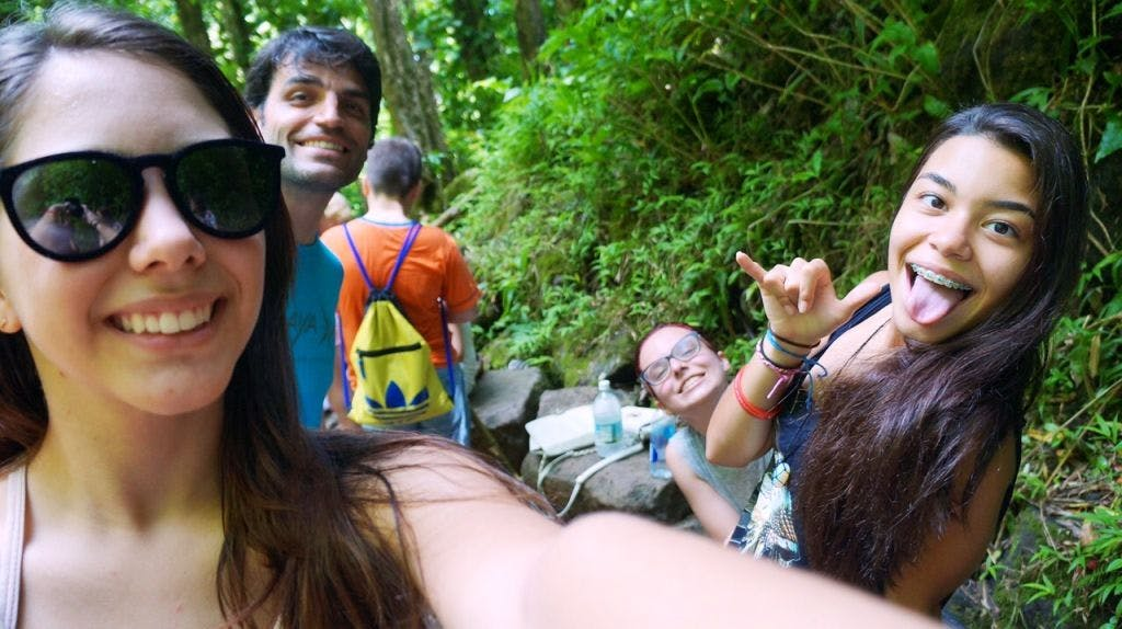 #hangloose #aloha #manoafalls Aninha, Gabi e Laurinha!!