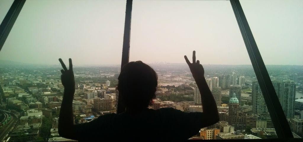 Olha essa vista incrível! O Lucas aprovou :)