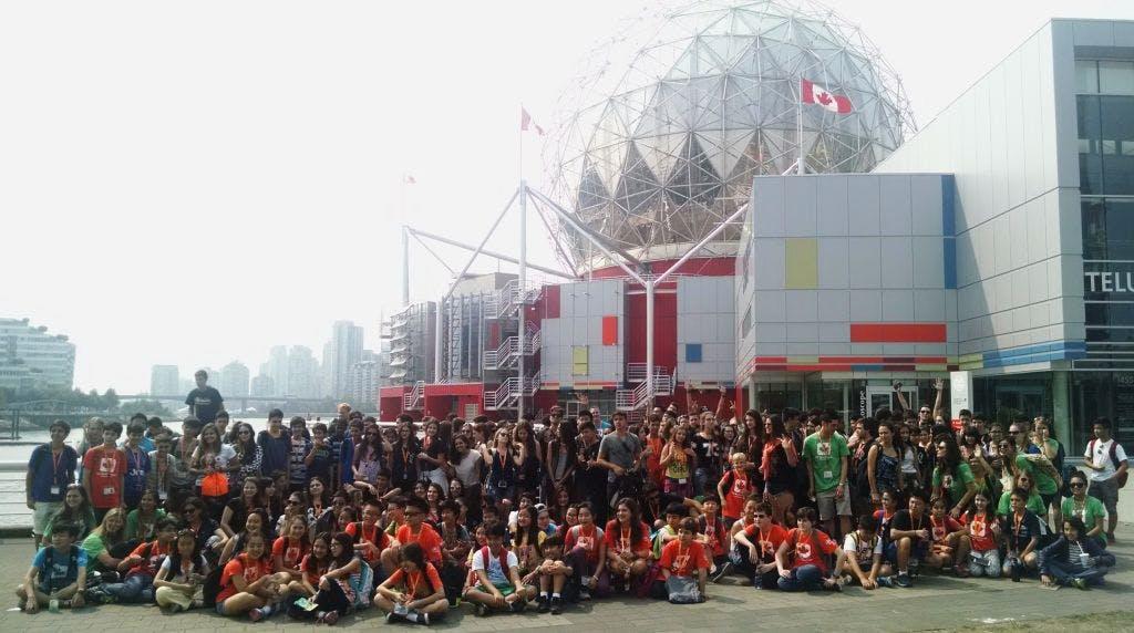 A escola inteira foi pro Science World !! =D