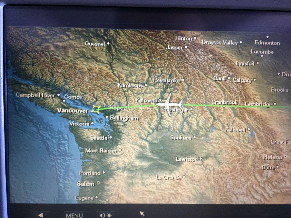 Indo para Vancouver, passando bem perto da minha cidade