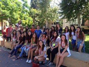 Nosso grupo todo reunido no campus da UCLA