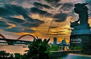 Sunset in Da Nang.