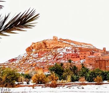 Em Ouarzazate, deu neve!