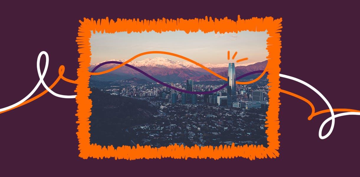 Visão aérea de uma cidade do Chile, para quem quer morar no Chile.