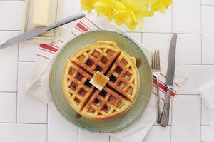 Waffles americanos.