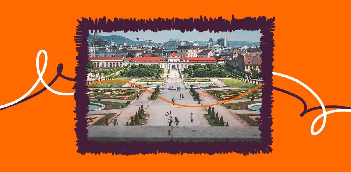 Visão aérea de Vienna, na Aústria, uma das melhores cidades para se viver no mundo.