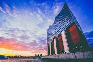 Sala de concertos Elbphilharmonie em Hamburgo, Alemanha.