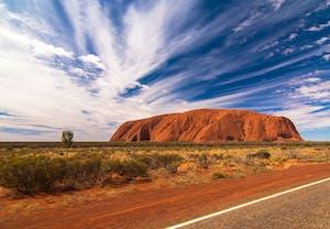 Parque nacional Uluru-Kata Tjuta, um dos tesouros da cultura australiana.