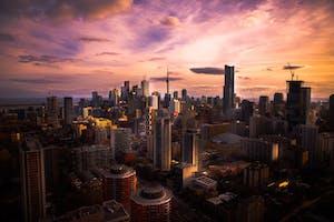 Visão aérea da cidade de Toronto, no Canadá.