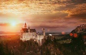 Neuschwanstein Castle ao sudoeste de Bavaria, Alemanha.
