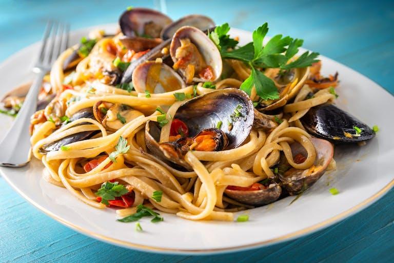 Especial Dia dos Namorados: Espaguete com frutos do mar